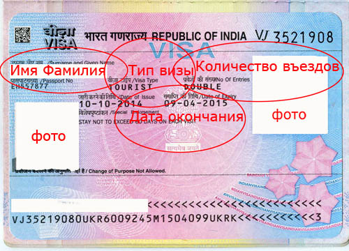 Виза в Индию для украинцев