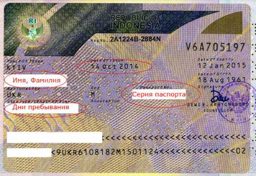 Виза в Индонезию для украинцев