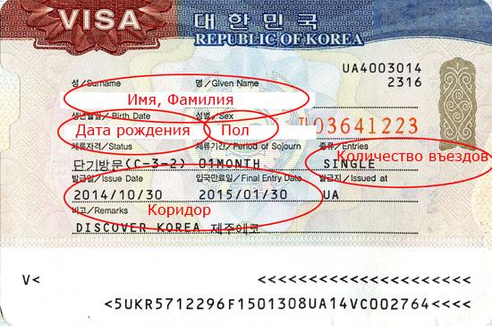 Виза в Корею для украинцев